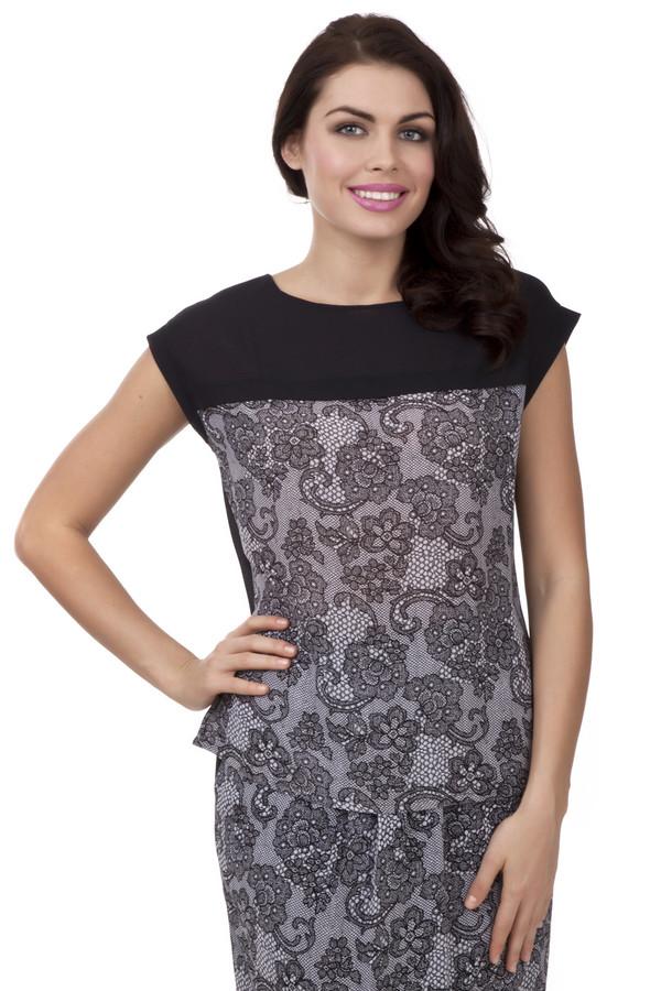 Блузa PezzoБлузы<br>Черно-белая блуза Pezzo прямого кроя. Изделие дополнено: круглым вырезом, короткими рукавами-кимоно и скрытой застежкой-молния на спинке. Блуза идеально сочетается с  юбкой Just Valeri.<br><br>Размер RU: 44<br>Пол: Женский<br>Возраст: Взрослый<br>Материал: полиэстер 100%<br>Цвет: Чёрный