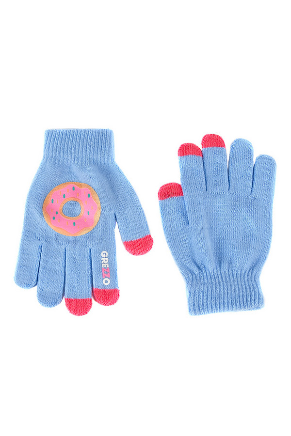 Перчатки GrezzoПерчатки<br><br><br>Размер RU: один размер<br>Пол: Женский<br>Возраст: Взрослый<br>Материал: акрил 100%<br>Цвет: Голубой
