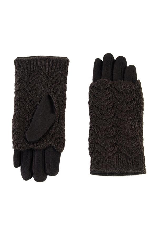 Перчатки SabellinoПерчатки<br><br><br>Размер RU: 7,5<br>Пол: Женский<br>Возраст: Взрослый<br>Материал: шерсть 70%, акрил 30%<br>Цвет: Чёрный