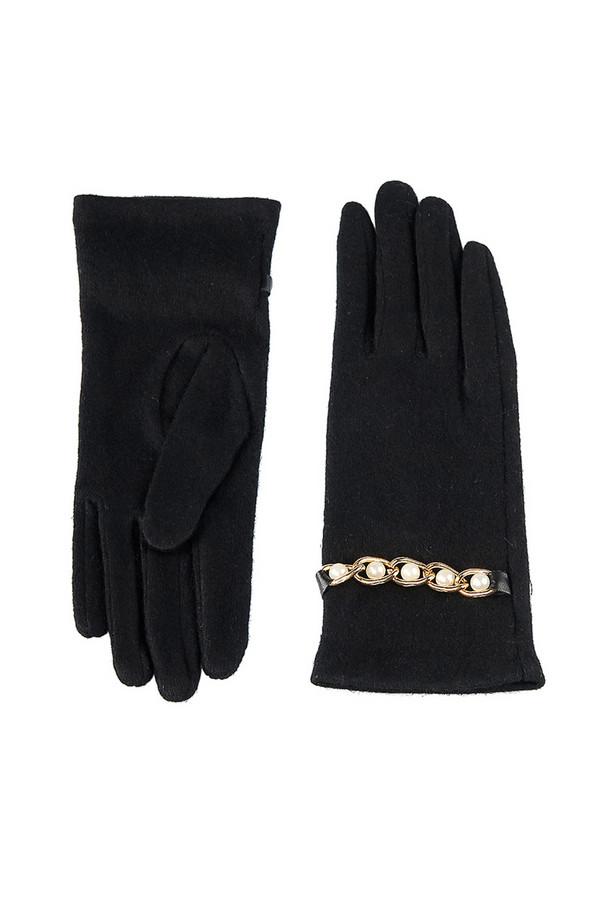 Перчатки SabellinoПерчатки<br><br><br>Размер RU: 7,5<br>Пол: Женский<br>Возраст: Взрослый<br>Материал: шерсть 75%, полиэстер 25%<br>Цвет: Чёрный