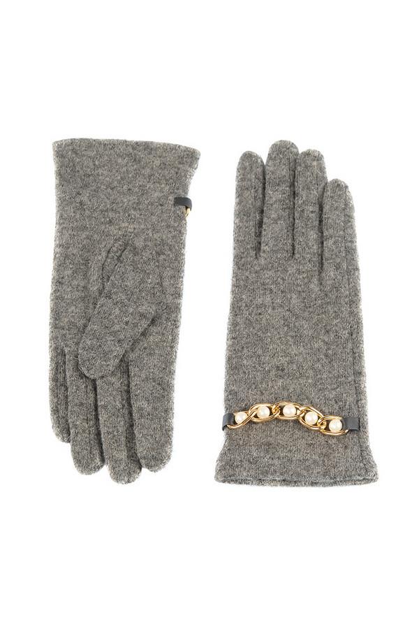 Перчатки SabellinoПерчатки<br><br><br>Размер RU: 7,5<br>Пол: Женский<br>Возраст: Взрослый<br>Материал: шерсть 75%, полиэстер 25%<br>Цвет: Серый