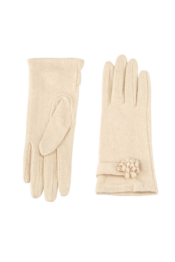 Перчатки SabellinoПерчатки<br><br><br>Размер RU: 7,5<br>Пол: Женский<br>Возраст: Взрослый<br>Материал: шерсть 75%, полиэстер 25%<br>Цвет: Бежевый