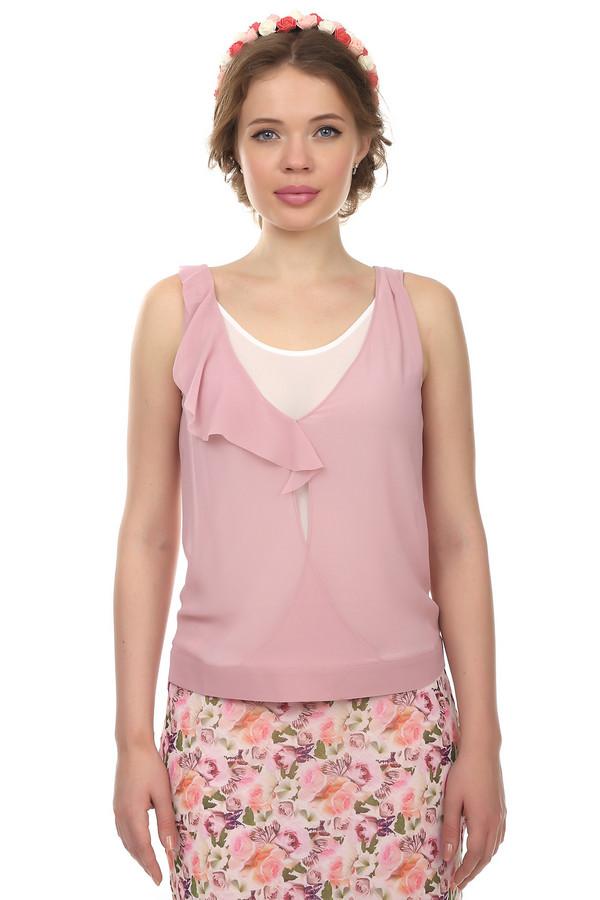 Блузa Just ValeriБлузы<br>Легкая прозрачная розовая блуза Just Valeri свободного кроя с эффектом многослойности. Изделие дополнено: круглым вырез и рюшей на вороте.<br><br>Размер RU: 46<br>Пол: Женский<br>Возраст: Взрослый<br>Материал: полиэстер 100%<br>Цвет: Розовый
