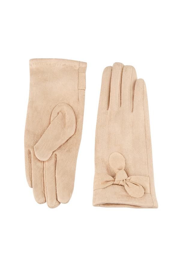 Перчатки SabellinoПерчатки<br><br><br>Размер RU: 7,5<br>Пол: Женский<br>Возраст: Взрослый<br>Материал: полиэстер 95%, спандекс 5%<br>Цвет: Бежевый