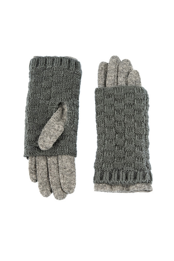 Перчатки SabellinoПерчатки<br><br><br>Размер RU: 7,5<br>Пол: Женский<br>Возраст: Взрослый<br>Материал: акрил 100%, Состав_2 полиэстер 25%, Состав_2 шерсть 75%<br>Цвет: Серый