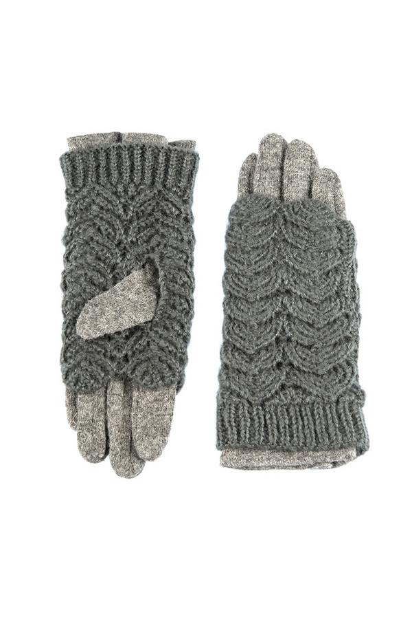 Перчатки SabellinoПерчатки<br><br><br>Размер RU: 8<br>Пол: Женский<br>Возраст: Взрослый<br>Материал: акрил 100%, Состав_2 полиэстер 25%, Состав_2 шерсть 75%<br>Цвет: Серый