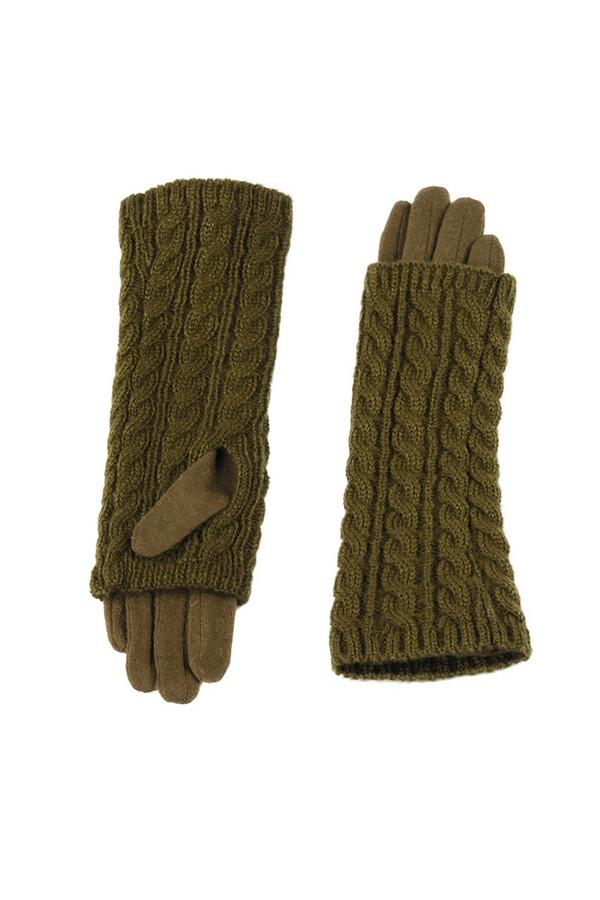 Перчатки SabellinoПерчатки<br><br><br>Размер RU: 7,5<br>Пол: Женский<br>Возраст: Взрослый<br>Материал: акрил 100%, Состав_2 полиэстер 25%, Состав_2 шерсть 75%<br>Цвет: Зелёный