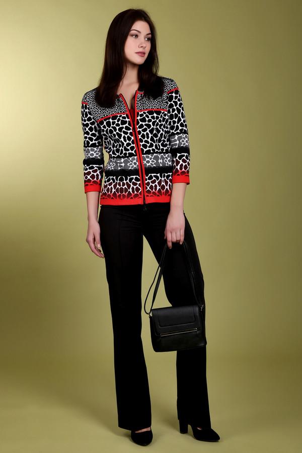 Брюки PezzoБрюки<br>Модные брюки-клеш от бренда Pezzo выполнены в классическом черном цвете. Это брюки со стрелками, средней посадки, пошитые из ткани, состав которой делает ее эластичной. Изделие дополнено: эластичным тканным ремешком и застежкой-молния. Идеально дополнит деловой стиль и хорошо будет смотреться как со строгими рубашками, так и с женственными блузами.<br><br>Размер RU: 46<br>Пол: Женский<br>Возраст: Взрослый<br>Материал: полиэстер 72%, спандекс 5%, район 23%<br>Цвет: Чёрный