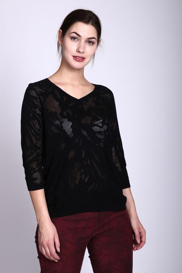 Пуловер PezzoПуловеры<br><br><br>Размер RU: 52<br>Пол: Женский<br>Возраст: Взрослый<br>Материал: хлопок 68%, район 32%<br>Цвет: Чёрный