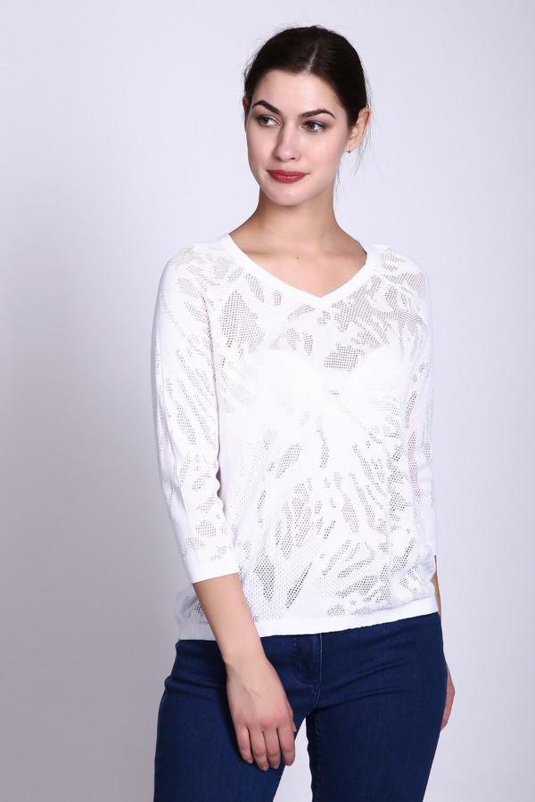 Пуловер PezzoПуловеры<br><br><br>Размер RU: 44<br>Пол: Женский<br>Возраст: Взрослый<br>Материал: хлопок 68%, район 32%<br>Цвет: Белый