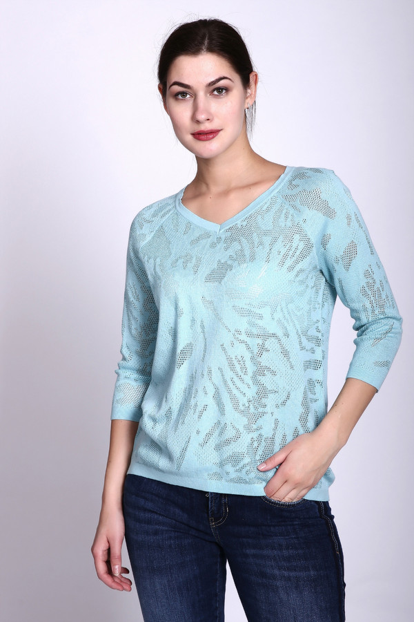 Пуловер PezzoПуловеры<br><br><br>Размер RU: 42<br>Пол: Женский<br>Возраст: Взрослый<br>Материал: хлопок 68%, район 32%<br>Цвет: Голубой