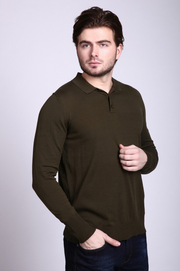 Джемпер Just ValeriДжемперы и Пуловеры<br><br><br>Размер RU: 50<br>Пол: Мужской<br>Возраст: Взрослый<br>Материал: хлопок 100%<br>Цвет: Зелёный