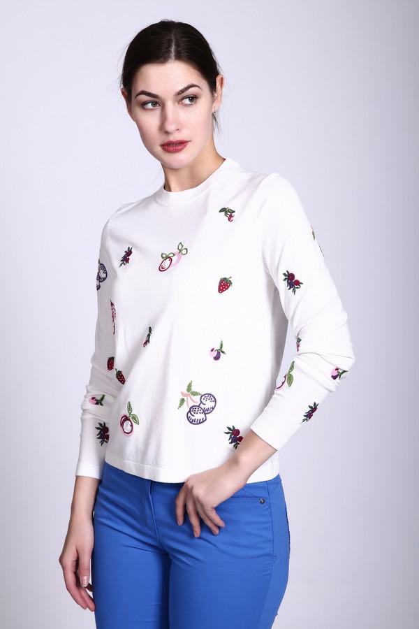 Пуловер PezzoПуловеры<br><br><br>Размер RU: 44<br>Пол: Женский<br>Возраст: Взрослый<br>Материал: вискоза 80%, нейлон 20%<br>Цвет: Белый