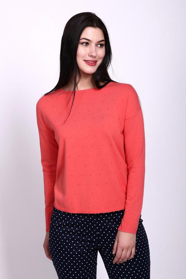 Пуловер PezzoПуловеры<br>Пуловер розового цвета фирмы Pezzo. Ткань состоит из 55% хлопка и 45% района. Модель выполнена прямым фасоном. Пуловер дополнен вырезом  лодочка  с застежкой молния с верху в низ, которая расположена на задней половине Пуловера, приспущенным рукавом. Длинна изделия средняя. Такой Пуловер будет гармонировать с брюками и юбками.