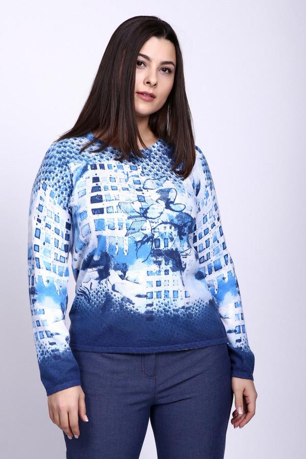 Пуловер Rabe collectionПуловеры<br><br><br>Размер RU: 48<br>Пол: Женский<br>Возраст: Взрослый<br>Материал: вискоза 50%, полиэстер 20%, полиамид 30%<br>Цвет: Разноцветный