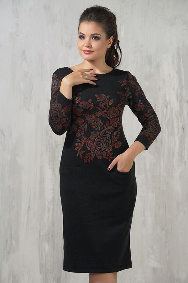 Платье VAYПлатья<br><br><br>Размер RU: 52<br>Пол: Женский<br>Возраст: Взрослый<br>Материал: шерсть 50%, пан 50%<br>Цвет: Чёрный