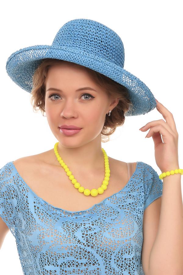 Шляпа PezzoШляпы<br>Модная женская шляпа от бренда Pezzo белого цвета. Выполнена полностью из соломы. Данная модель предназначена для летнего сезона. Шляпа широкополая. Защитит кожу лица от пагубного влияния ультрафиолетовых лучей. Шляпа будет гармонично сочетаться с разными цветами и стилями.<br><br>Размер RU: один размер<br>Пол: Женский<br>Возраст: Взрослый<br>Материал: солома 100%<br>Цвет: Голубой