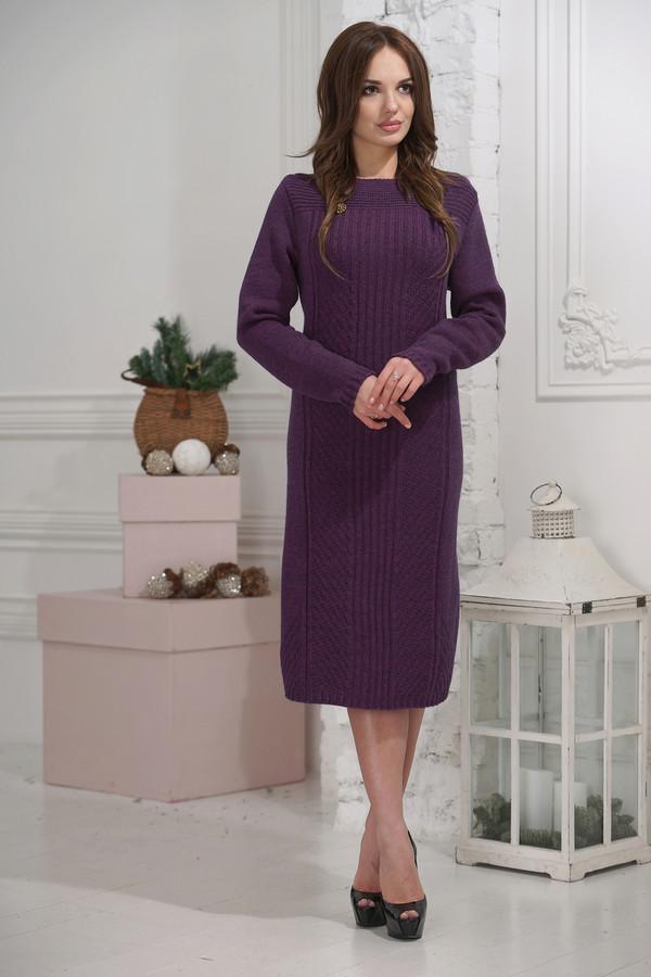 Платье VAYПлатья<br><br><br>Размер RU: 52<br>Пол: Женский<br>Возраст: Взрослый<br>Материал: шерсть 30%, пан 70%<br>Цвет: Фиолетовый