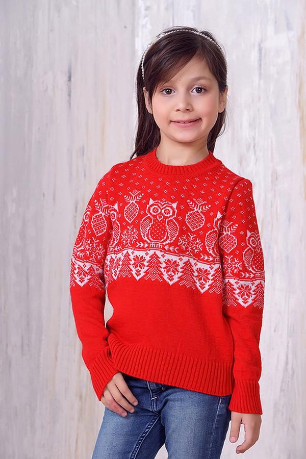 джемпер vay для девочки, красный