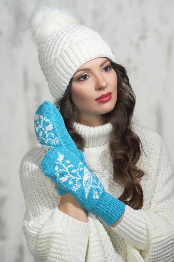 женские перчатки vay, голубые