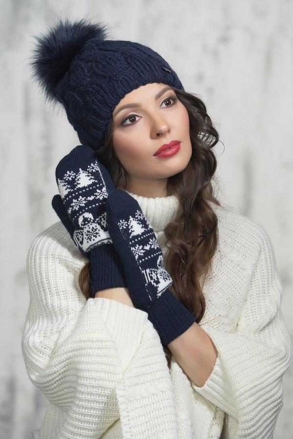женские перчатки vay, синие