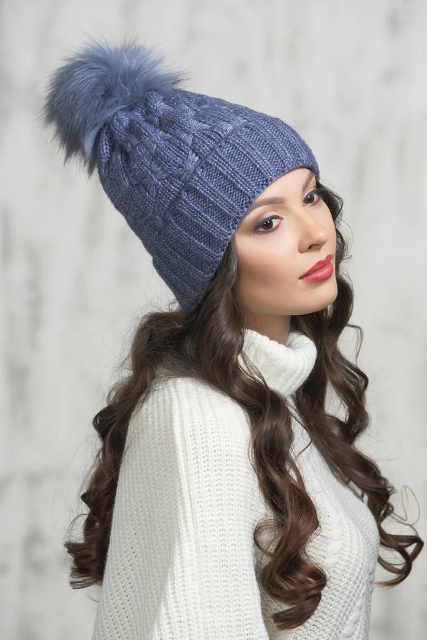 женская шапка vay, синяя
