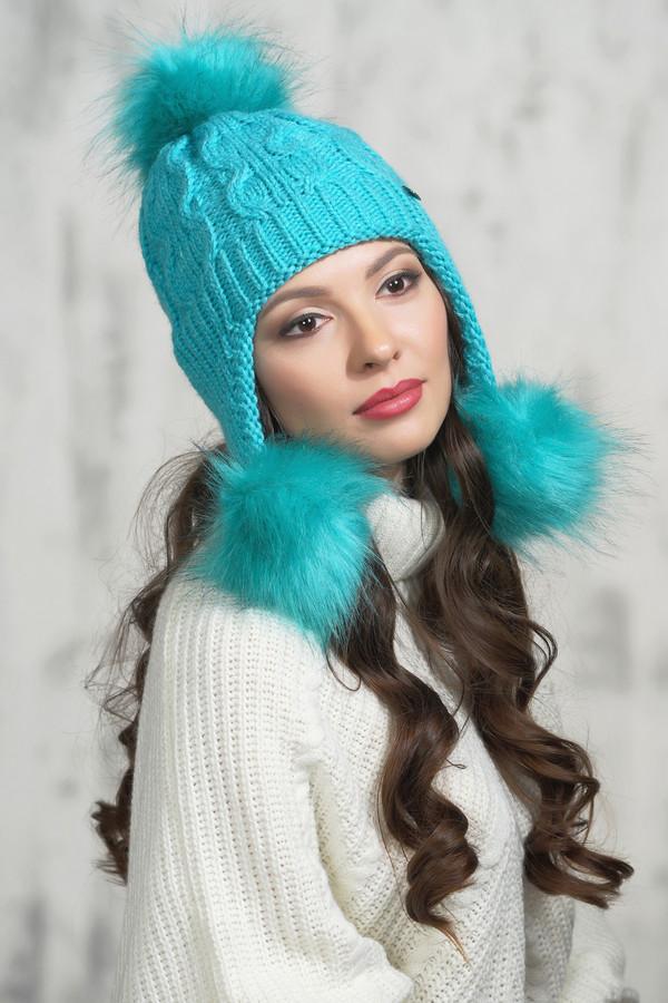 женская шапка vay, голубая