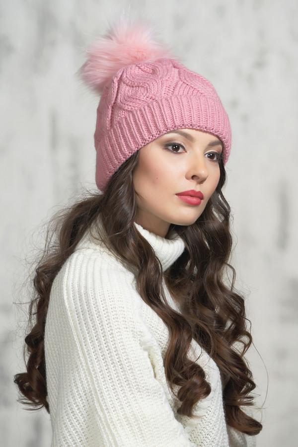 женская шапка vay, розовая