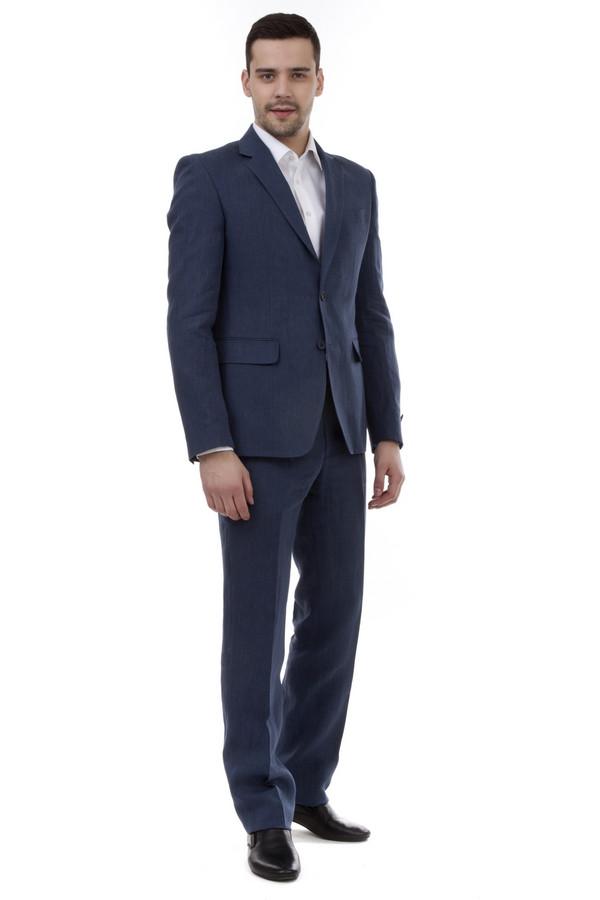 Классические брюки Just ValeriКлассические брюки<br>Льняные синие брюки Just Valeri прямого кроя. Изделие дополнено: классическими стрелками, шлевками для ремня, тремя боковыми карманами, сзади прорезными карманами на пуговицах. Брюки застегиваются на молнию и фиксируются на пуговицу.<br><br>Размер RU: 46<br>Пол: Мужской<br>Возраст: Взрослый<br>Материал: лен 100%<br>Цвет: Синий