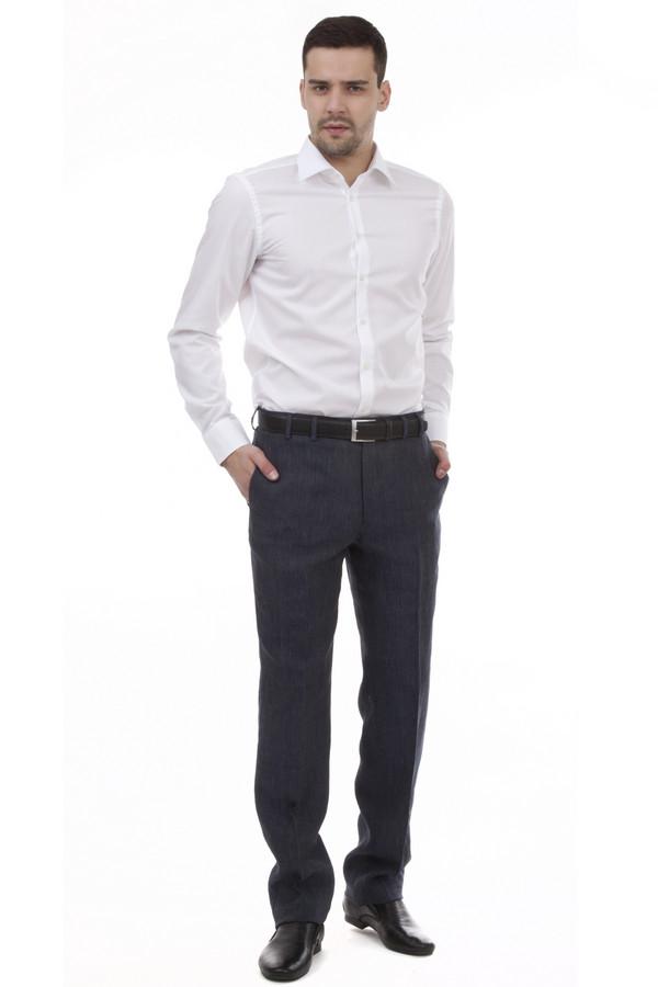 Классические брюки Just ValeriКлассические брюки<br>Мужские темно-синие брюки Just Valeri прямого кроя. Изделие дополнено: классическими стрелками, шлевками для ремня, двумя боковыми карманами, сзади прорезными карманами на пуговицах. Брюки застегиваются на молнию и фиксируются на пуговицу. Модель идеально подходит к  пиджаку Just Valeri .<br><br>Размер RU: 48<br>Пол: Мужской<br>Возраст: Взрослый<br>Материал: лен 100%<br>Цвет: Синий
