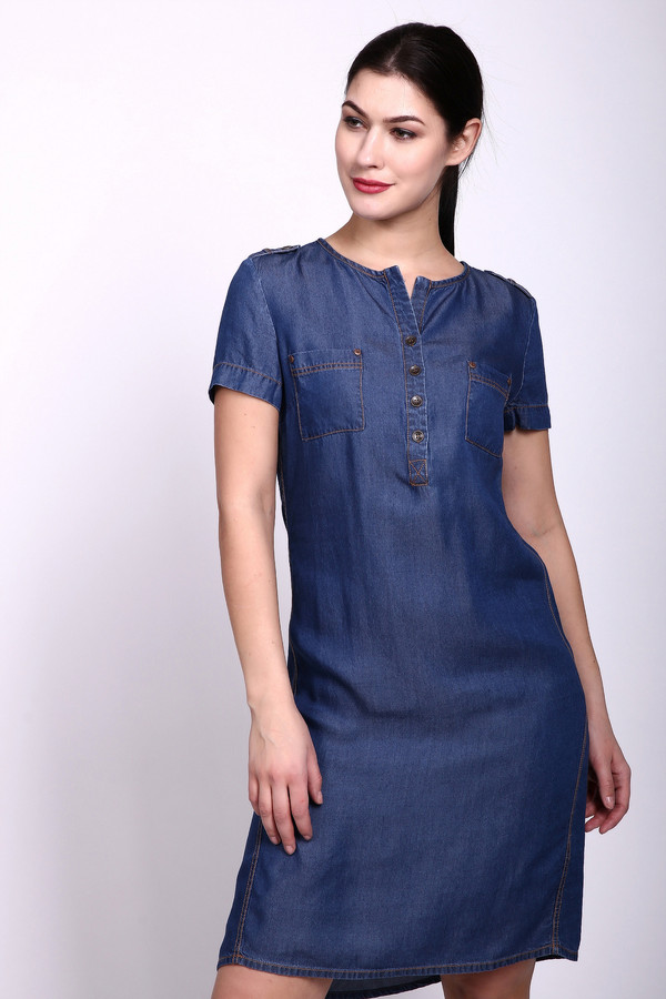 Платье PezzoПлатья<br><br><br>Размер RU: 44<br>Пол: Женский<br>Возраст: Взрослый<br>Материал: лиоцел 100%<br>Цвет: Синий