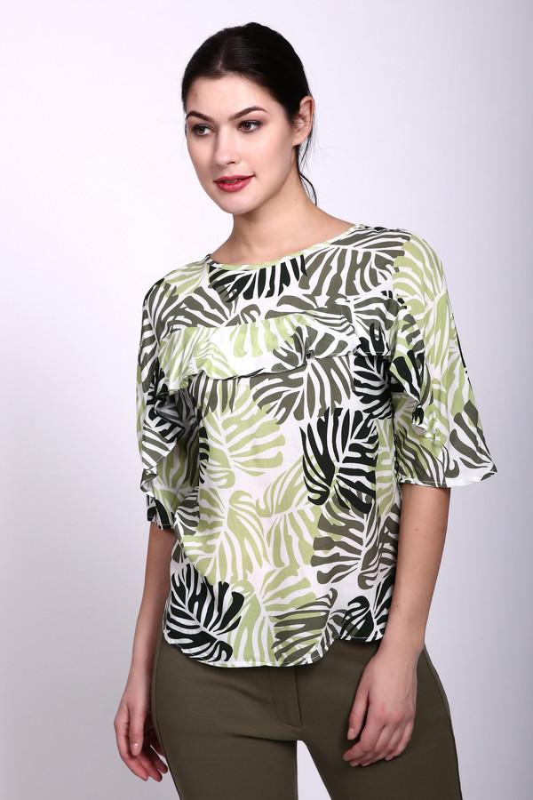 Блузa PezzoБлузы<br>Блуза зеленого цвета фирмы Pezzo. Ткань состоит из 100% вискозы. Модель выполнена прямым покроем. Блуза дополнена овальным вырезом, коротким, втачным рукавом, боковыми разрезами, рюшью на грудном отделе. Подшита блуза полукругом. Такая модель прекрасно себя зарекомендует в летнее время года.<br><br>Размер RU: 42<br>Пол: Женский<br>Возраст: Взрослый<br>Материал: вискоза 100%<br>Цвет: Зелёный