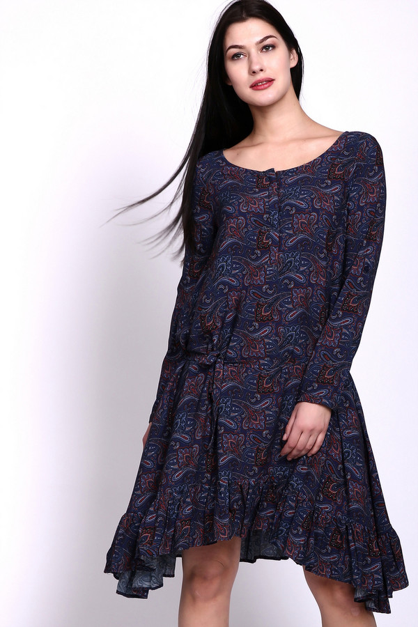 Платье PezzoПлатья<br><br><br>Размер RU: 44<br>Пол: Женский<br>Возраст: Взрослый<br>Материал: вискоза 100%<br>Цвет: Синий