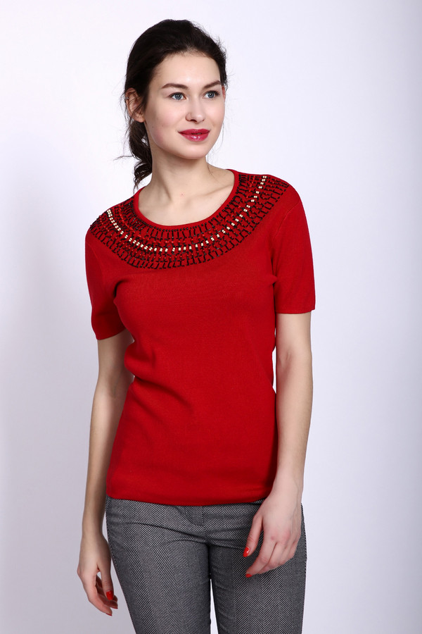 Купить Пуловер Pezzo, Китай, Красный, полиамид 19%, вискоза 81%