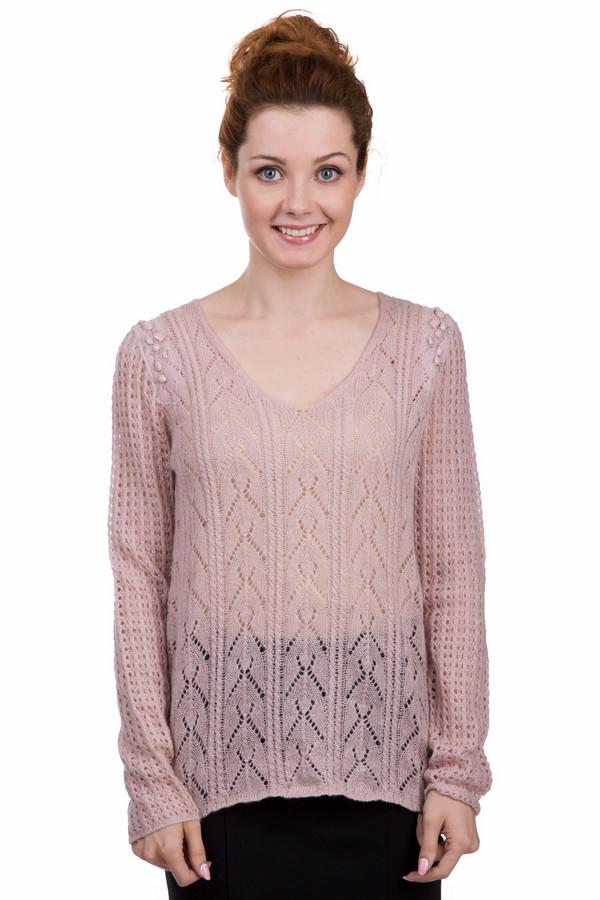 Пуловер TaifunПуловеры<br>Пуловер Taifun розового цвета выполнен по технике свободной вязки. Передняя часть пуловера украшена геометрическими фигурами. Рукава и задняя часть украшены другими узорами. Плечи украшены розовыми камнями и вышивкой. Такой пуловер может стать дополнением вашего ежедневного образа. Широкую горловину можно украсить  шарфом .<br><br>Размер RU: 46<br>Пол: Женский<br>Возраст: Взрослый<br>Материал: шерсть 15%, полиакрил 85%<br>Цвет: Розовый