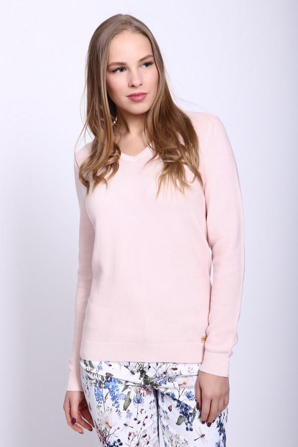 Пуловер PezzoПуловеры<br>Пуловер женский розового цвета фирмы Pezzo. Модель выполнена прямым фасоном. Изделие дополнено округлым воротом с V - образным вырезом, втачными, длинными рукавами с манжетами. Манжеты декорированы пуговицами. Окружность ворота и вырез обшит двойной вязаной резинкой, ткань состоит из 100% хлопка. Сочетать можно с различными брюками, юбками.