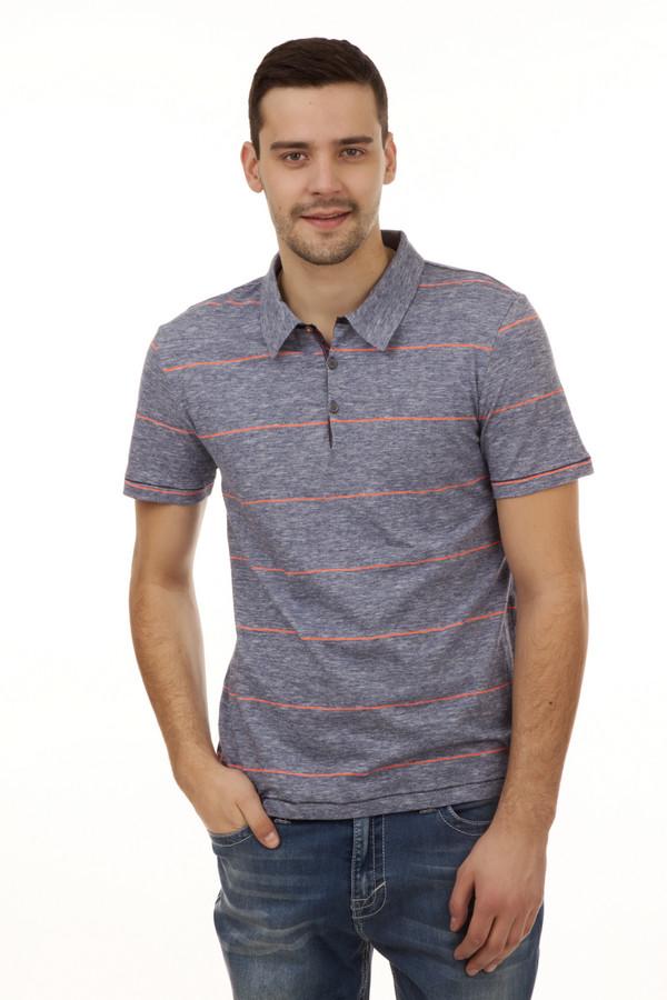 Поло PezzoПоло<br>Мужское поло прямого кроя от бренда Pezzo представлено в сером цвете с яркими кислотно- оранжевыми горизонтальными полосами. Изделие дополнено: отложным воротом с планкой на пуговицах и короткими рукавами. Материал из которого пошито данное поло, на 98% состоит из хлопка и на 2% из полиэстера, благодаря чему футболка очень удобная и имеет стрейчевый эффект. Идеально подходит для повседневного использования и хорошо сочетается как с джинсами, так и с шортами.<br><br>Размер RU: 46<br>Пол: Мужской<br>Возраст: Взрослый<br>Материал: хлопок 98%, полиэстер 2%<br>Цвет: Синий