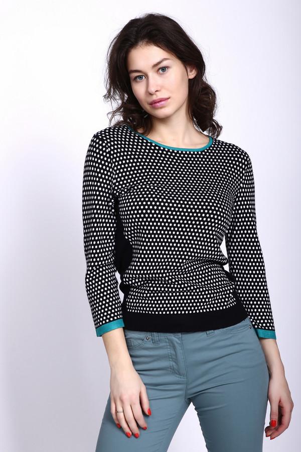 Пуловер PezzoПуловеры<br><br><br>Размер RU: 54<br>Пол: Женский<br>Возраст: Взрослый<br>Материал: полиамид 19%, вискоза 81%<br>Цвет: Чёрный
