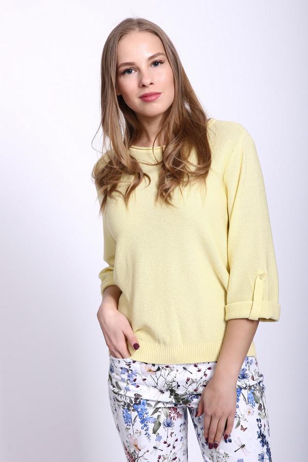 Пуловер PezzoПуловеры<br><br><br>Размер RU: 54<br>Пол: Женский<br>Возраст: Взрослый<br>Материал: вискоза 33%, хлопок 67%<br>Цвет: Жёлтый