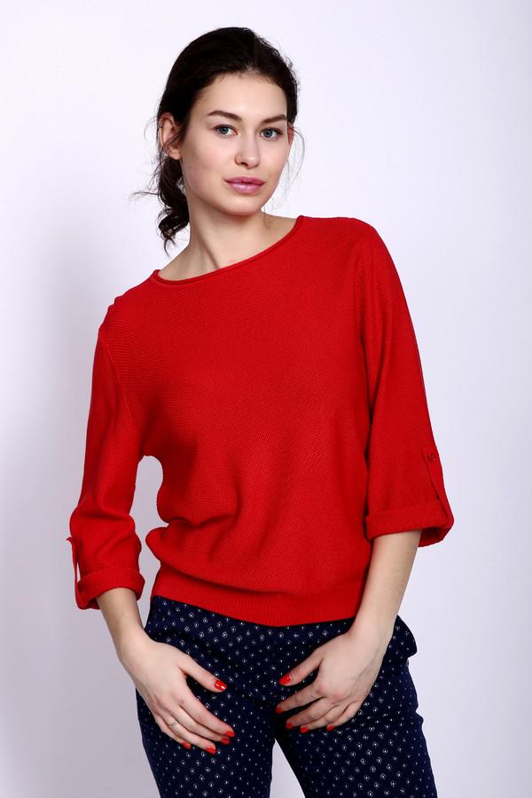 Пуловер PezzoПуловеры<br><br><br>Размер RU: 44<br>Пол: Женский<br>Возраст: Взрослый<br>Материал: вискоза 33%, хлопок 67%<br>Цвет: Красный