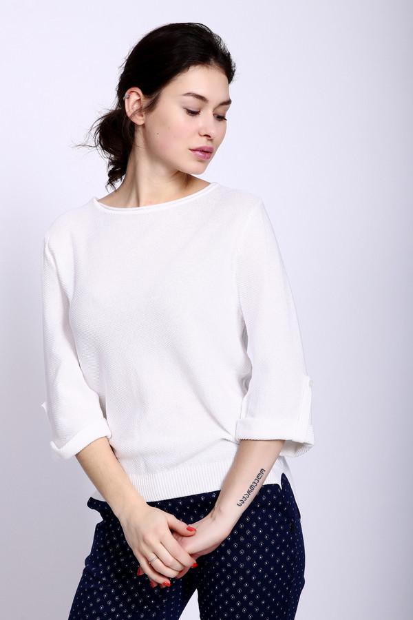 Пуловер PezzoПуловеры<br><br><br>Размер RU: 44<br>Пол: Женский<br>Возраст: Взрослый<br>Материал: вискоза 33%, хлопок 67%<br>Цвет: Белый