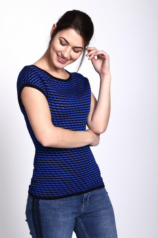 Пуловер PezzoПуловеры<br><br><br>Размер RU: 48<br>Пол: Женский<br>Возраст: Взрослый<br>Материал: вискоза 36%, хлопок 64%<br>Цвет: Синий