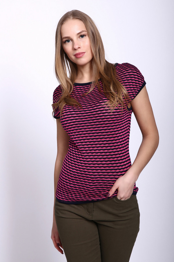 Пуловер PezzoПуловеры<br><br><br>Размер RU: 42<br>Пол: Женский<br>Возраст: Взрослый<br>Материал: вискоза 36%, хлопок 64%<br>Цвет: Разноцветный