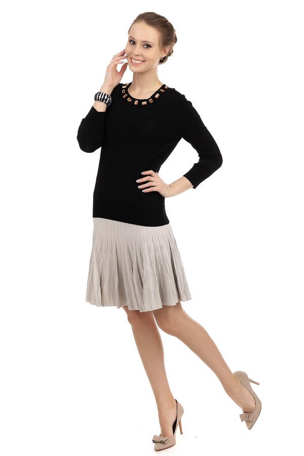 Юбка Just ValeriЮбки<br>Вязанная трикотажная юбка от бренда Just Valeri расклешенного кроя представлена в бежевом цвете. Изделие дополнено эластичным поясом. Без подкладки.<br><br>Размер RU: 46<br>Пол: Женский<br>Возраст: Взрослый<br>Материал: вискоза 65%, нейлон 35%<br>Цвет: Бежевый