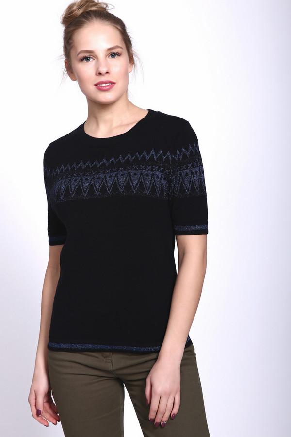 Пуловер PezzoПуловеры<br><br><br>Размер RU: 52<br>Пол: Женский<br>Возраст: Взрослый<br>Материал: хлопок 85%, полиэстер 10%, металл 5%<br>Цвет: Чёрный