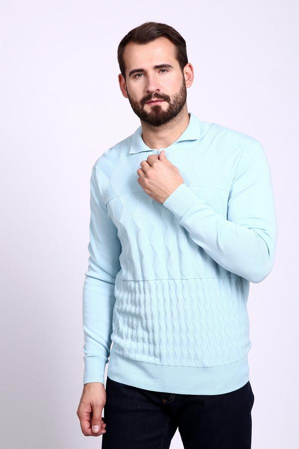 Джемпер PezzoДжемперы и Пуловеры<br><br><br>Размер RU: 58<br>Пол: Мужской<br>Возраст: Взрослый<br>Материал: хлопок 100%<br>Цвет: Голубой