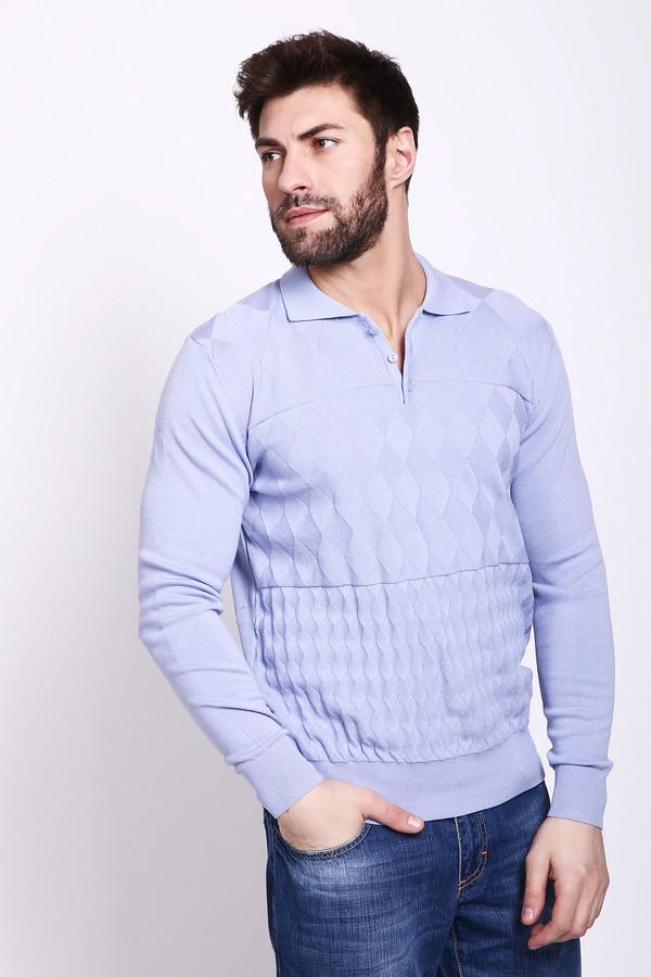 Джемпер PezzoДжемперы и Пуловеры<br>Джемпер мужеской сиреневого цвета фирмы Pezzo. Модель выполнена прямым покроем. Изделие дополнено откладным воротом, разрезом на пуговицы, длинными, втачными рукавами. Гармонировать может с различными брюками.