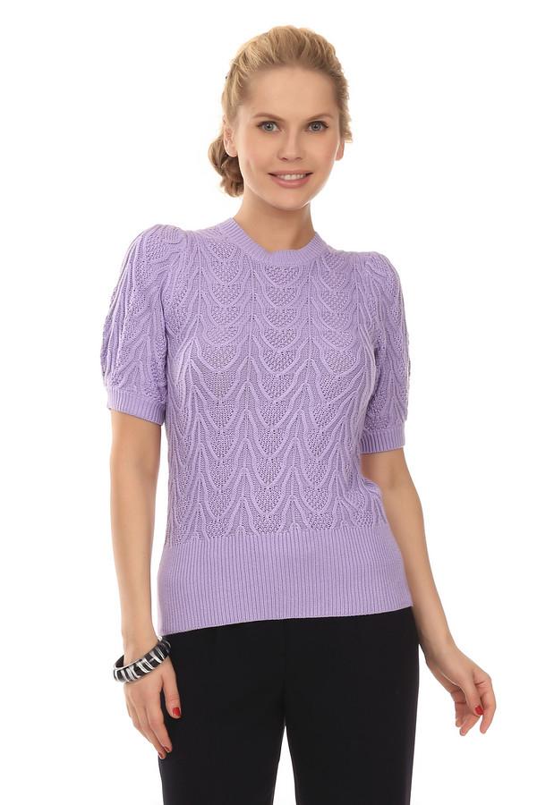 Пуловер Just ValeriПуловеры<br>Трикотажный пуловер от бренда Just Valeri выполнен из мягкой пряжи сиреневого цвета. Изделие дополнено: круглым вырезом и короткими рукавами-фонарик. Ворот, манжеты и нижний кант оформлены эластичной вязанной резиной. Пуловер декорирован вывязанным объемным узором.<br><br>Размер RU: 46<br>Пол: Женский<br>Возраст: Взрослый<br>Материал: вискоза 60%, хлопок 40%<br>Цвет: Сиреневый