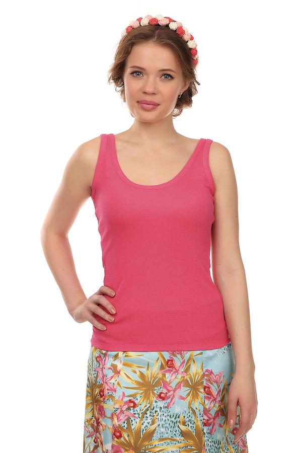 Топ Just ValeriТопы<br>Практичный топ от бренда Just Valeri прилегающего кроя выполнен из вискозной ткани розового цвета. Изделие дополнено округлым вырезом.<br><br>Размер RU: 48<br>Пол: Женский<br>Возраст: Взрослый<br>Материал: вискоза 95%, спандекс 5%<br>Цвет: Розовый