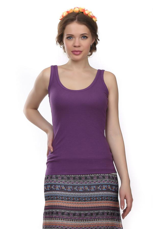 Топ Just ValeriТопы<br>Практичный топ от бренда Just Valeri прилегающего кроя выполнен из вискозной ткани фиолнтового цвета. Изделие дополнено округлым вырезом.<br><br>Размер RU: 46<br>Пол: Женский<br>Возраст: Взрослый<br>Материал: вискоза 95%, спандекс 5%<br>Цвет: Фиолетовый